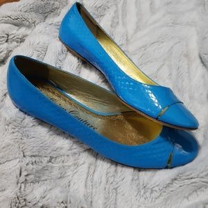 Juicy Couture turquoise flats